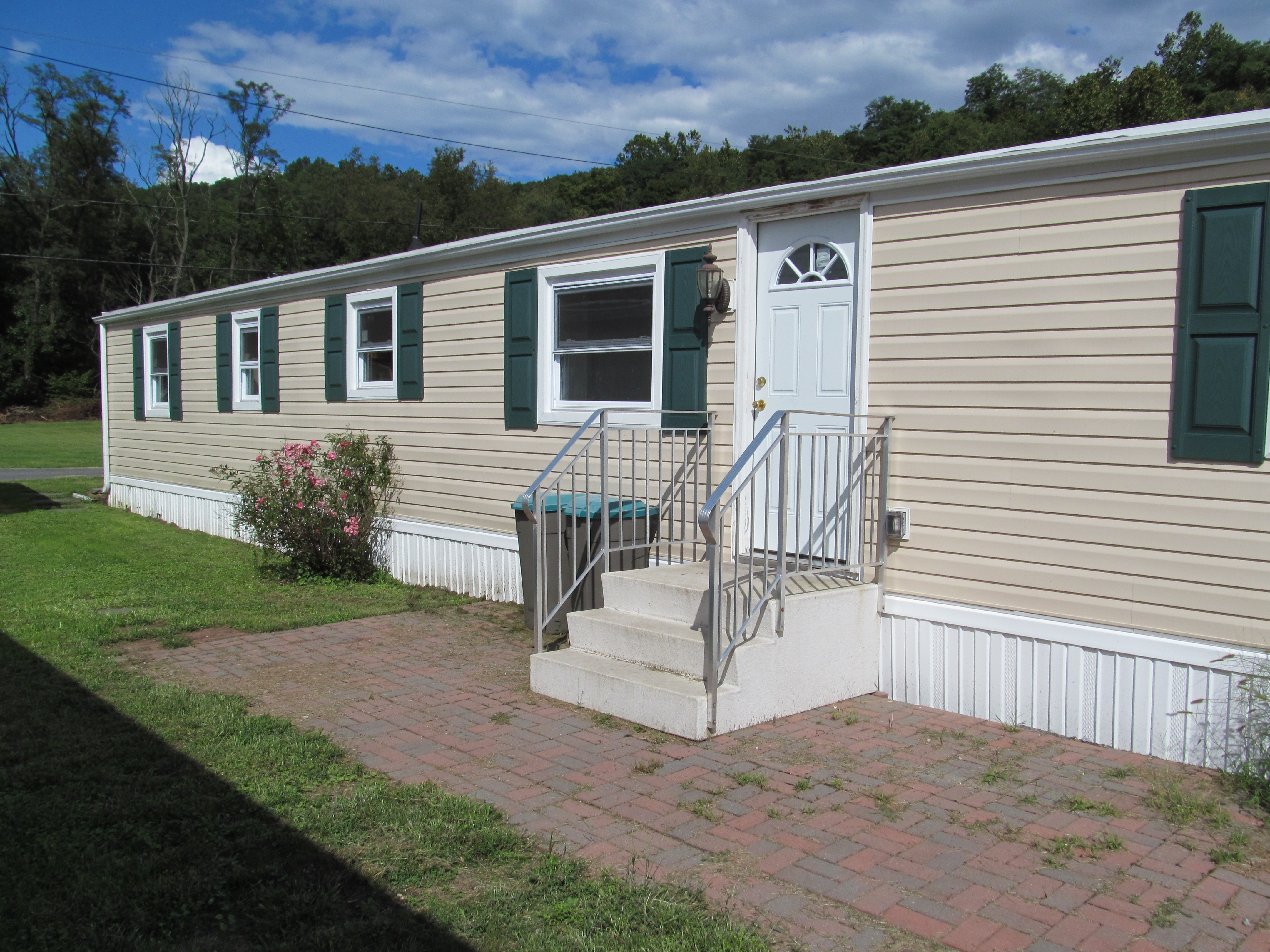 mobile home improvement side with front stairs