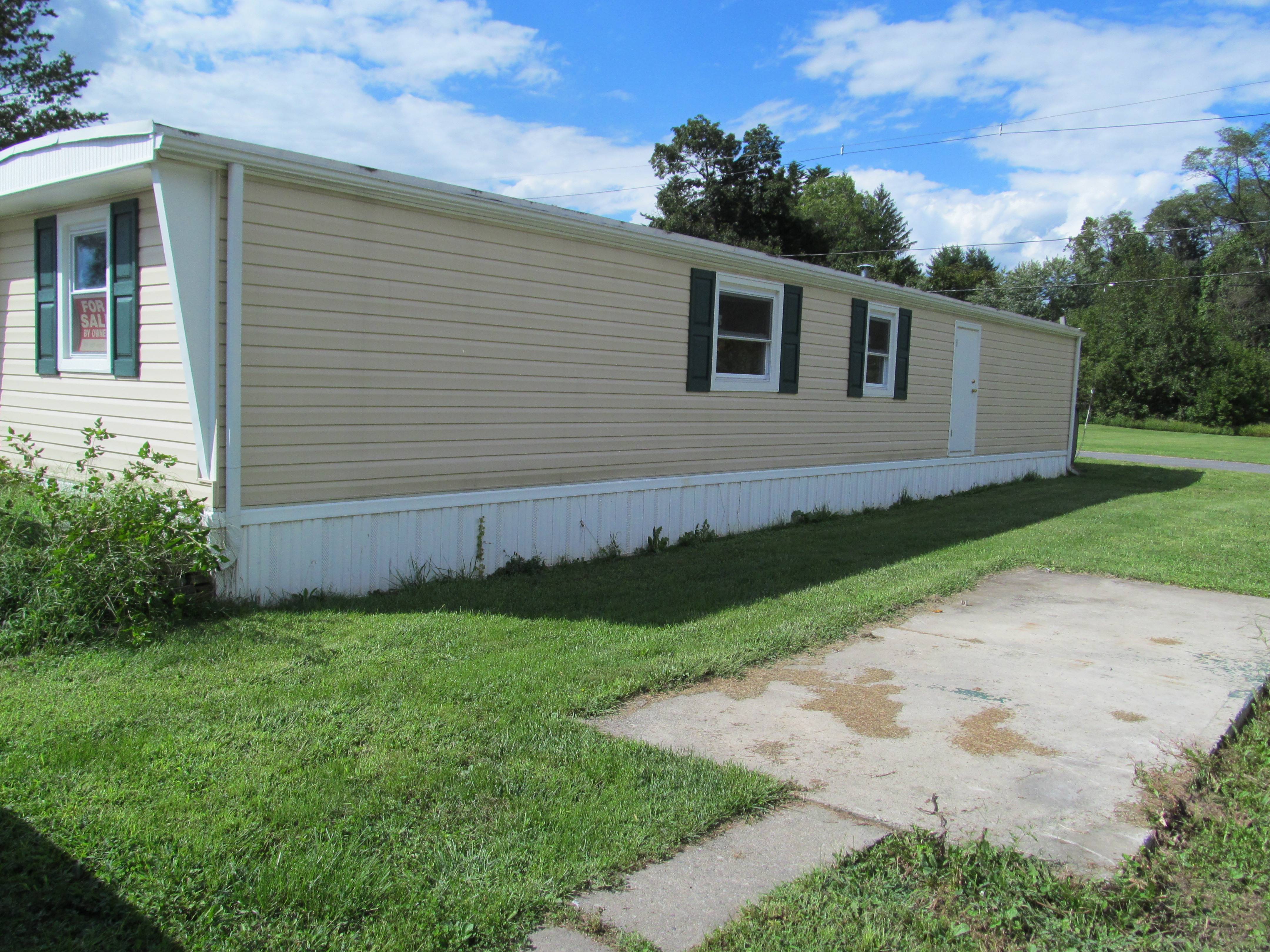 mobile home improvement front side angle