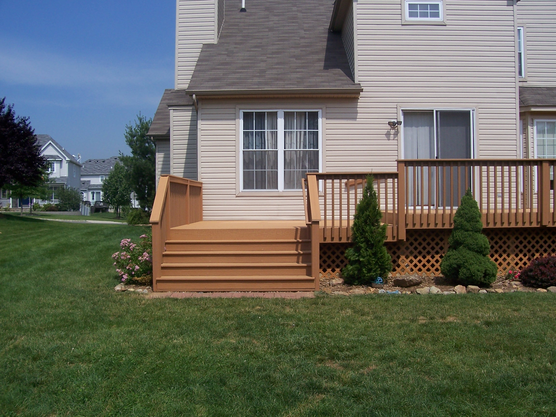 home improvement rear deck stairs