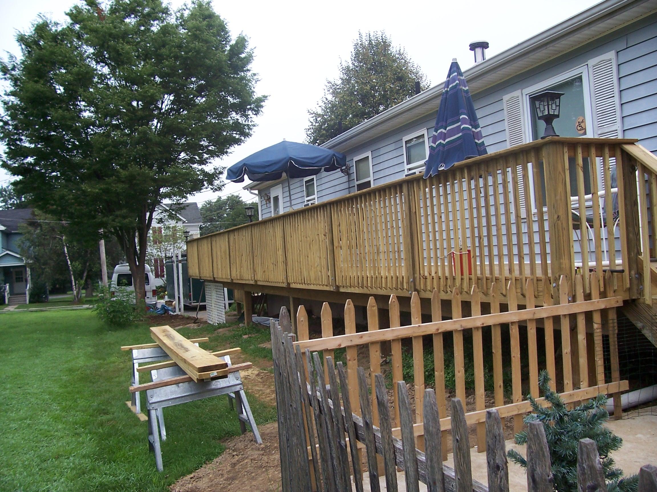 home improvement pole deck
