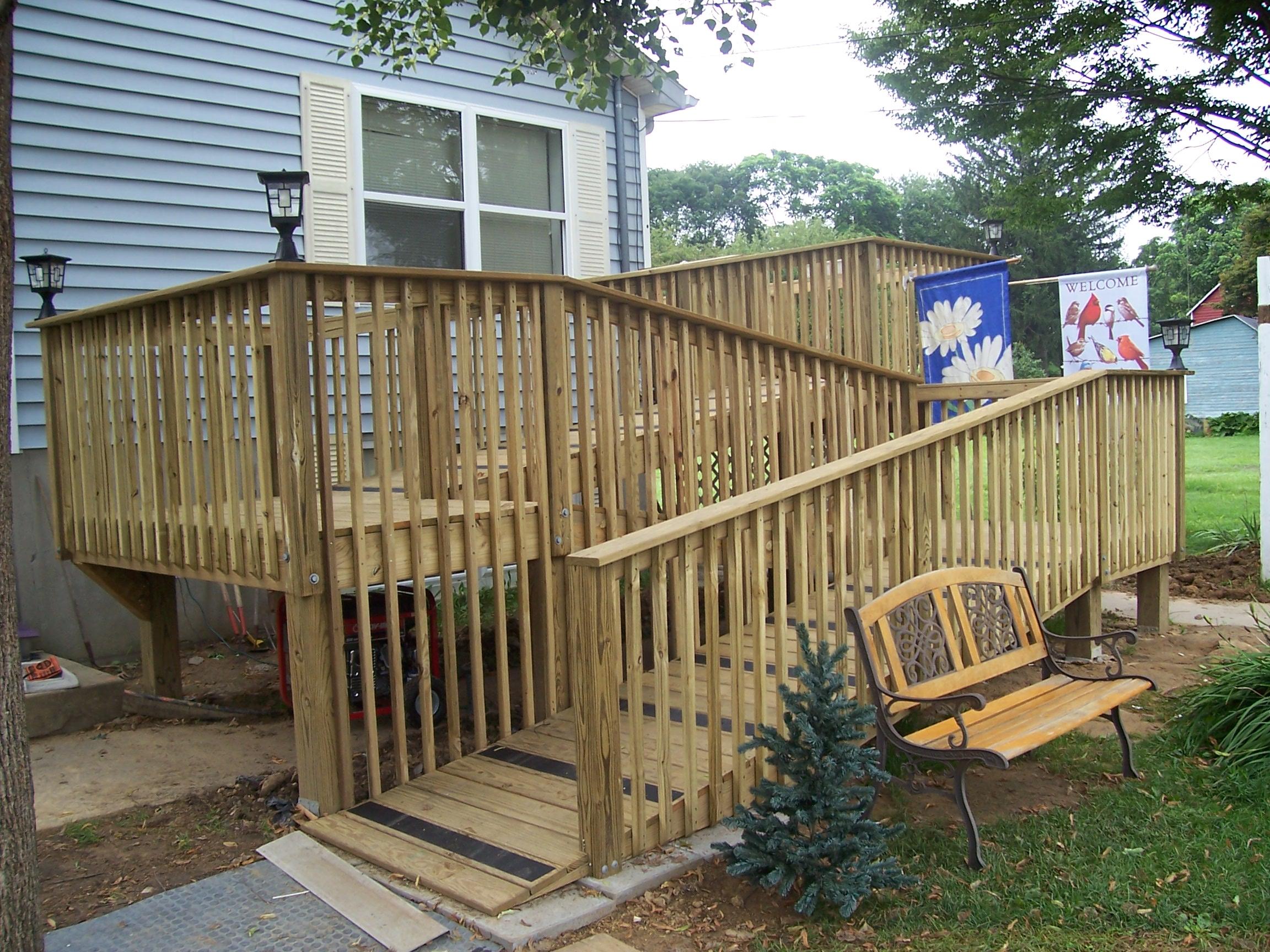 home improvement access ramp deck