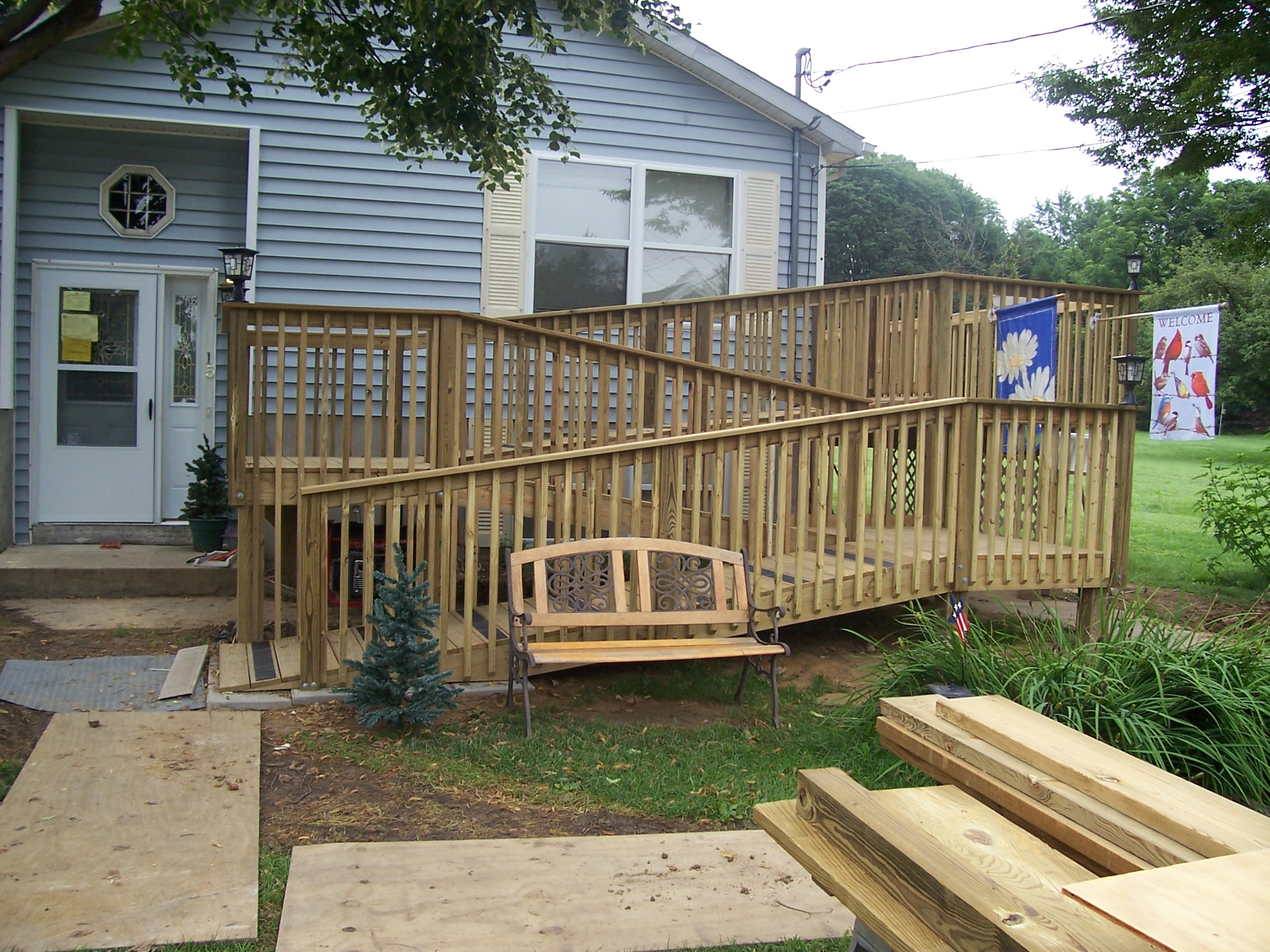 home improvement access ramp front home entrance