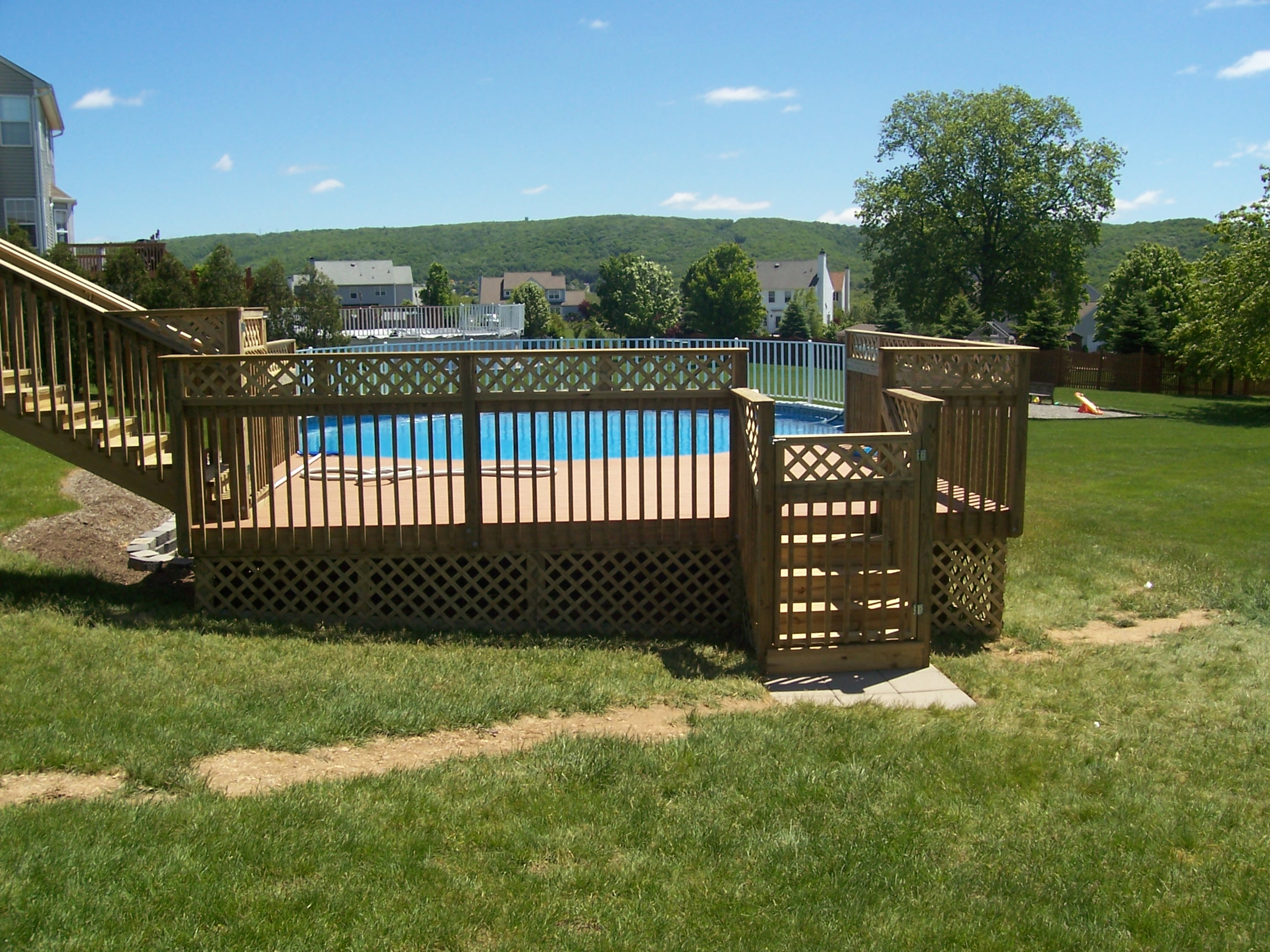 home improvement deck swimming pool entrance